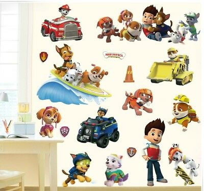 3D Cartoon Paw Patrol Wall Stickers Posters For Kids Rooms