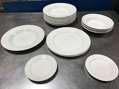 Lot of Steelite Albalite Restaurant Dinner Plates & Bowls Porcelain White