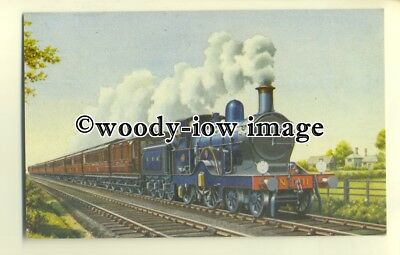 "ry1047 - G.E.R. ""Norfolk Express"" hauled by 4-2-2 Locomotive No.11 - postcard"