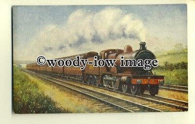 ry1053 - Midland Railway, The Scotch Express No.1000 - postcard - Tuck's