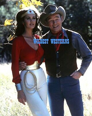 Sexy Busty LYNDA Wonder Woman CARTER w/ ROY King of the Cowboys ROGERS Photo WOW