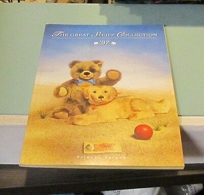 1997 Margarete Steiff Collection Stuffed Animals Toy Catalog Button in Ear 96pg