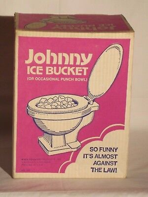 Vintage Johnny Ice Bucket Man Cave Football Bachelor Party gag gift 1974 in box