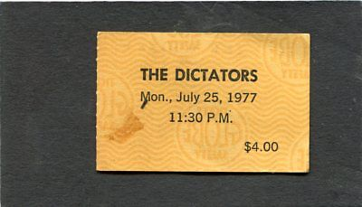 1977 The Dictators Concert Ticket The Whisky Los Angeles Punk Rock
