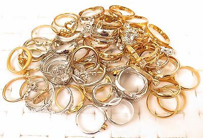 Shiny Sparkly Classic Rings Lot*ESPO 14KGE Wholesale 59 Gold Plated Jewelry*A356