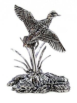 Rising Mallard Duck Finest English Pewter Statuette - Hand Made in England - Box