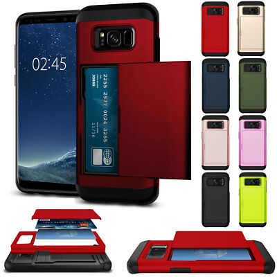For Samsung Galaxy NOTE 5 Wallet Pocket Silicone Camera Protector PC Case Cover