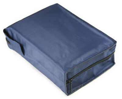 """Blue Vinyl Cover Case for Large LDS Quad, Thick Bible or 6.5"""" x 9.5"""" Book - NEW"""