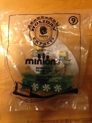 Mcdonalds holiday toy train car #9 Minions. Buy any 3 train cars and get 1 free