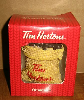 Tim Hortons Sack of Coffee Beans Christmas Ornament 2016  FREE SHIP