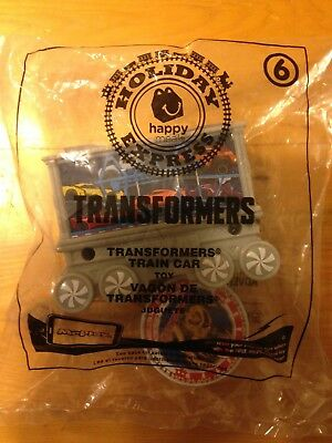Mcdonalds holiday toy train Transformers car #6 Buy any 3 train cars get 1 Free
