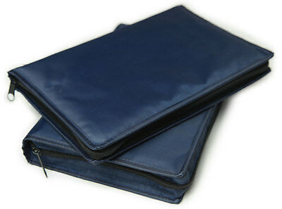 "Blue Vinyl Scripture Cover Case LDS Large Bible / Triple Set - 6.5"" x 9.5"" - NEW"