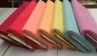 13 Different Colours : Birch Polyester Tulle Fabric : 150Cm Wide : $5.50 P/m