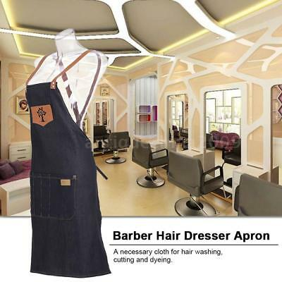 Barber Hairdressers Salon Apron Hairdressing Cape Hair Cutting Dyeing Cloth F8Z1