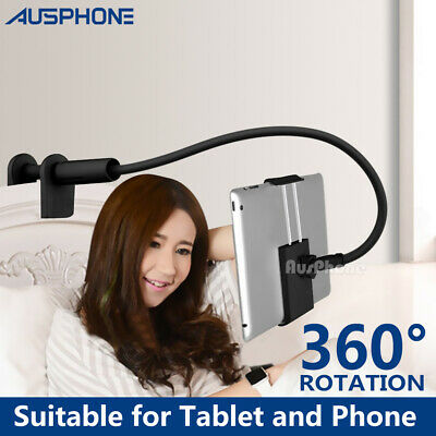 360° Rotating Tablet Stand Holder Bed Desktop Mount For iPad iPhone Air Samsung