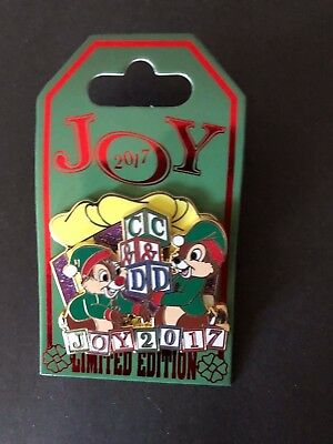 Disney Parks Christmas Joy 2017 Chip and Dale Pin Limited Edition 5000