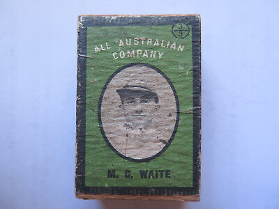M G WAITE AUSTRALIAN DUNCANS 60 EMPTY MATCH BOX USED CONDITION AUSTRALIAN c1938