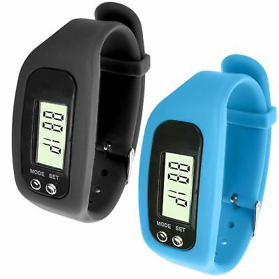 LCD Wrist Watch Pedometer Bracelet Calorie Step Walking Counter Sport Fitness