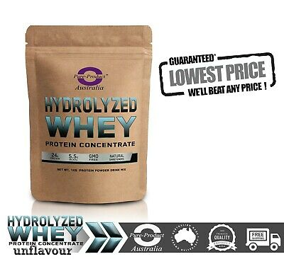 1Kg Hydrolyzed Whey Protein Isolate / Concentrate Unflavoured