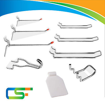 """1"""" & 3/4"""" Spaced Pegboard Accessory Display Hooks"""