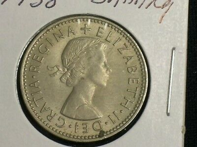 Excellent Vintage Coin Shilling Bin A FREE SHIP 1959 GREAT BRITAIN SHILLING