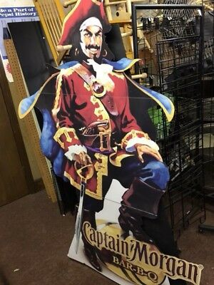Captain Morgan Cardboard Cut Out  Great for Bar Or Man Cave