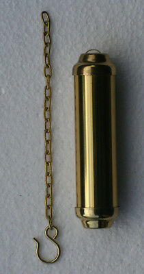 Brass Dummy weight shells 105 x 25mm with 155mm long brass chain