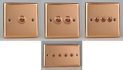 Varilight Switches Toggle  Lights Sockets Stainless Steel Copper Mirror Finish
