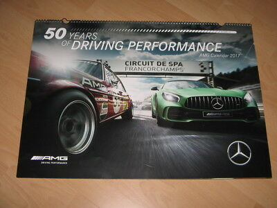Mercedes Wandkalender Fotos AMG 2017 50 years of driving performance 70x50cm