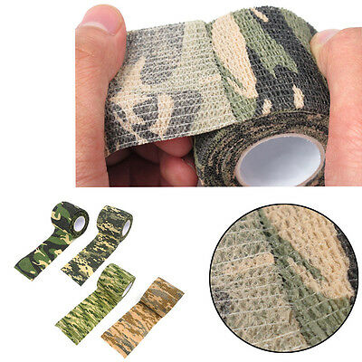 4x 4.5m WaterProof Wrap Hunting Camping Hiking Camouflage-Stealth Tape NEU