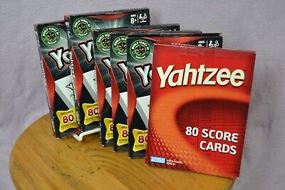 Lot of 6 Yahtzee Score Cards Pads by Hasbro Gaming 06100 480 Sheets Total