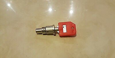 Tubular Lock Key T-008 T008 RED for 1800 Candy Machine Vending + Barrel matching