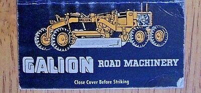 1930's Road Grader Machines-2 & 3 Wheel Rollers-Galion Co. Ohio Matchbook