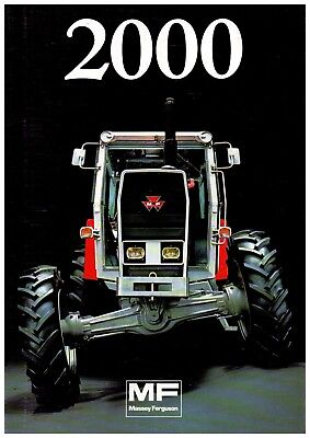 Prospectus Prospect Tracteur Tractor Massey Ferguson MF 2000 series - 16 pages