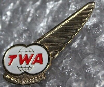 Vintage TWA Airline Junior Hostess Wing Pin