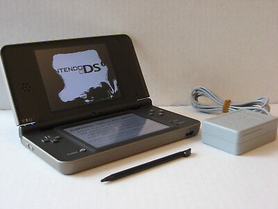 Nintendo DSi XL Bronze Handheld Game SYSTEM, Broken Upper Screen, REPAIR / PARTS