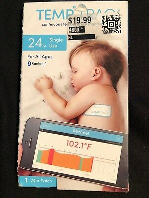 Temp Traq Bluetooth 24 hr Patch hands-free temperature monitoring Exp 06/18