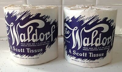 1939 The Waldorf - A Scott Tissue - Toilet Paper - Lot of 2 Vintage Packages