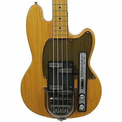 Vintage 1970 Hayman 4040 Electric Bass Guitar Natural Finish Made in England