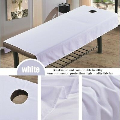 Beauty Massage Bed Cover Table Plinth Treatment Couch Sheet + Face Breath Hole,^