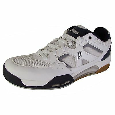 Prince NFS Attack Mens Squash Shoe White/Navy/Silver, 13