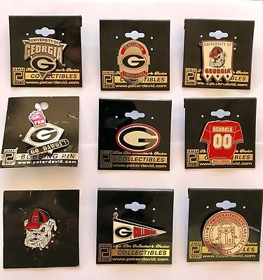 Georgia Bulldogs Hat Lapel Pins NCAA Licensed Collectibles - Your Choice