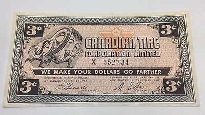 1962 Canadian Tire 3 Three Cents CTC-3-C-X Circulated Money No More Power D138