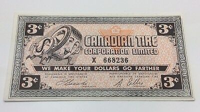 1962 Canadian Tire 3 Three Cents CTC-3-C-X Circulated Money No More Power D141