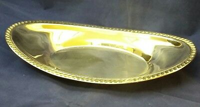 "Vintage FB Rogers Silver Co Silver Plate Oval Bread Plate 12 1/2"" x 6 3/4"""