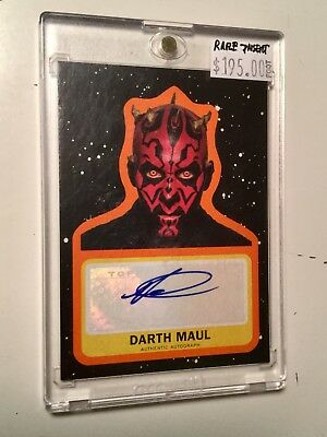 Star Wars Darth Maul rare numbered autograph insert card 5/25