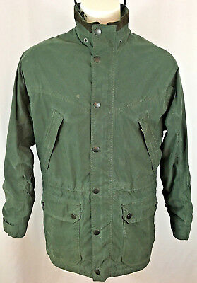 Men's Barbour FULLBOURN Waterproof Breathable Green Jacket Size M No Hood
