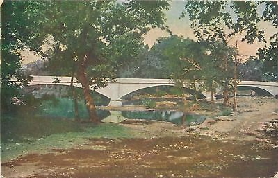 Iola Kansas~Concrete Span Bridge~1908 Postcard