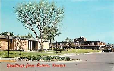 Salina Kansas~New Civic Center~1960s Postcard