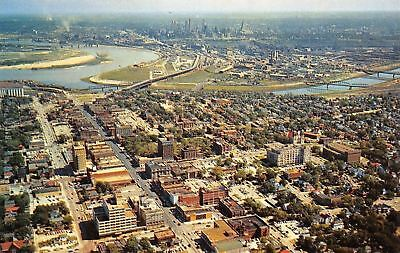 Kansas City Kansas~Aerial View Of Downtown~1960 Postcard